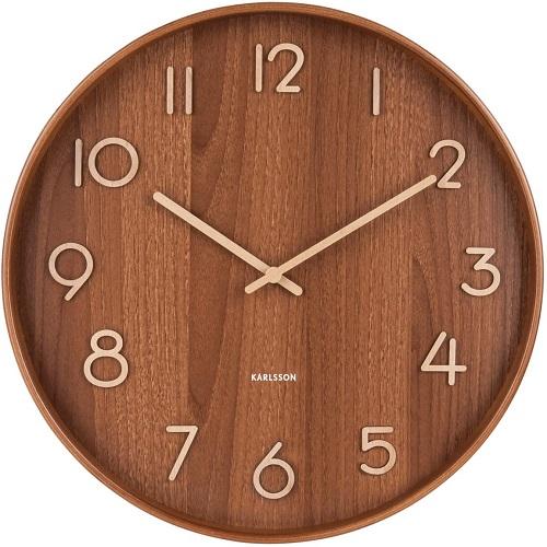 Đồng hồ gỗ treo tường chất liệu gỗ máy kim trôi thiết kế trang trí nhà và quán cafe