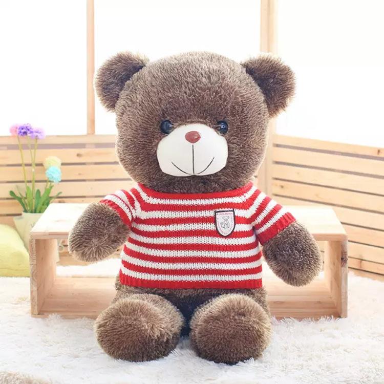 Gấu Bông Teddy Mặc Áo Len Đỏ Siêu Mịn 60cm Quà Tặng Siêu Đáng Yêu