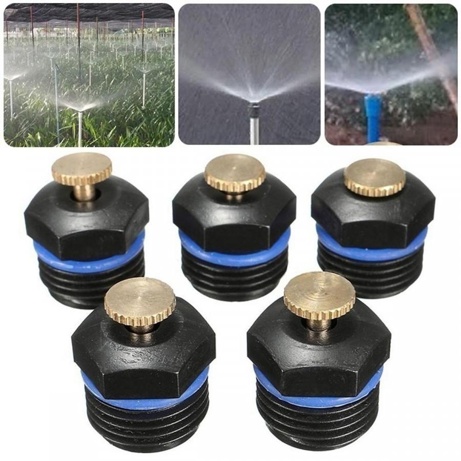 Bộ 10 béc phun mưa tưới cây chỉnh lưu lượng ren 21