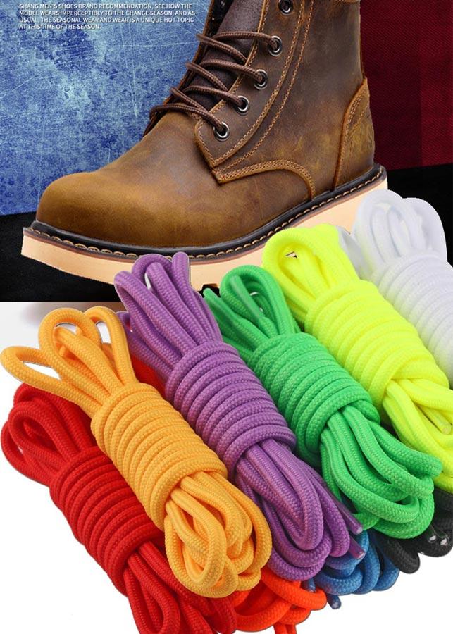 Combo 02 cặp dây giày thể thao dây giày sneaker dây giày nam nữ dạng tròn bền chắc đẹp dài 1 mét PETTINO-LS03