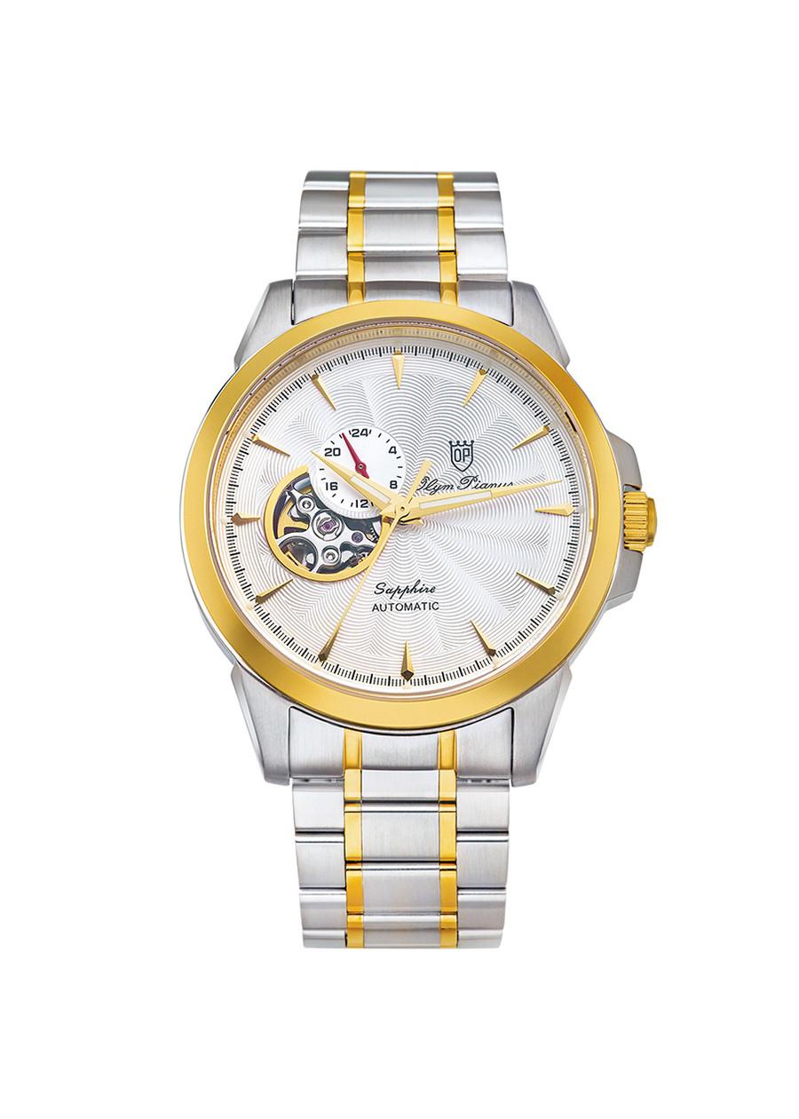 Đồng hồ nam dây kim loại Automatic Olym Pianus OP990-083AMSK trắng