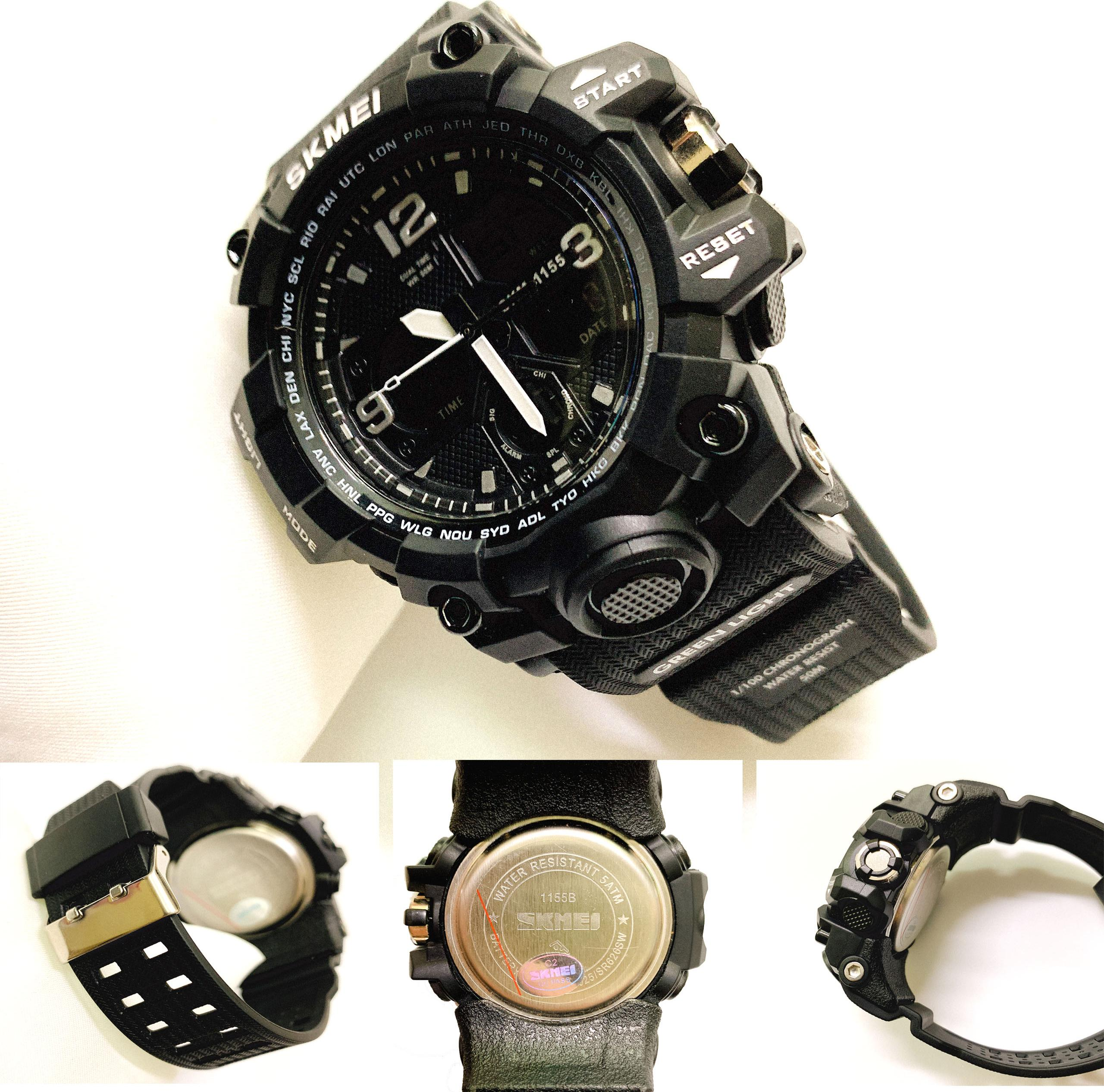 Đồng hồ Thê Thao Nam SKMEI 1155 + Tặng Combo TẨY DA CHẾT APPLE WHITE PELLING GEL BEAUSKIN chính hãng