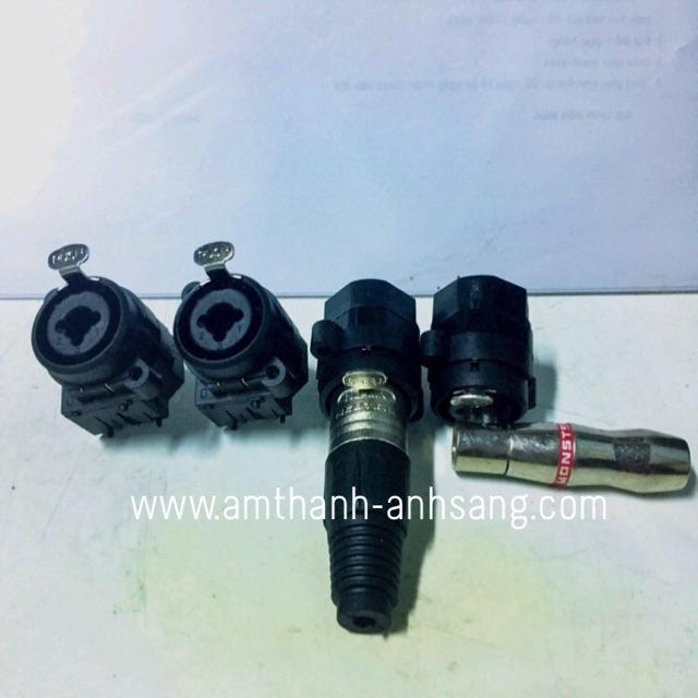 Rắc âm cáp line 2 in 1, rắc cái âm canon và 6.5mm cái, 01 cái rắc âm thiết bị âm thanh