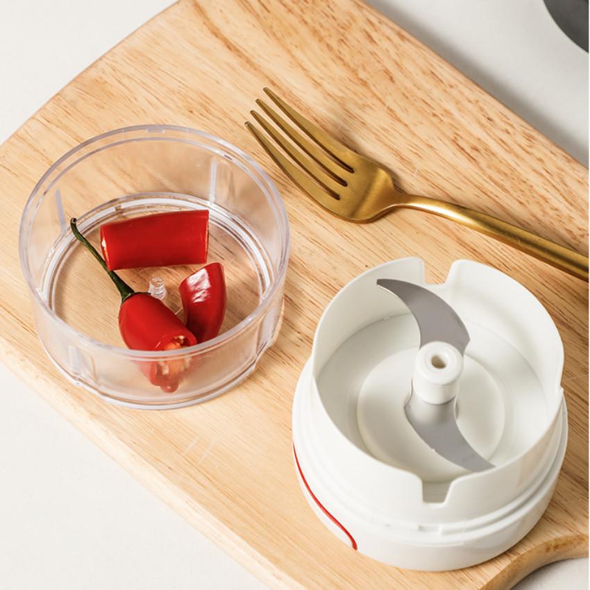 Dụng cụ xay tỏi, ớt ,gia vị, thực phẩm đa năng cầm tay