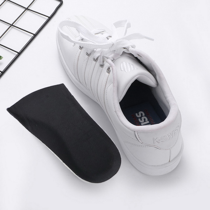 Lót Giày Tăng Chiều Cao Thoáng Khí PU Nửa Bàn V.2, Phụ Kiện Tăng Chiều Cao Dùng Cho Cả Nam Và Nữ Màu Đen
