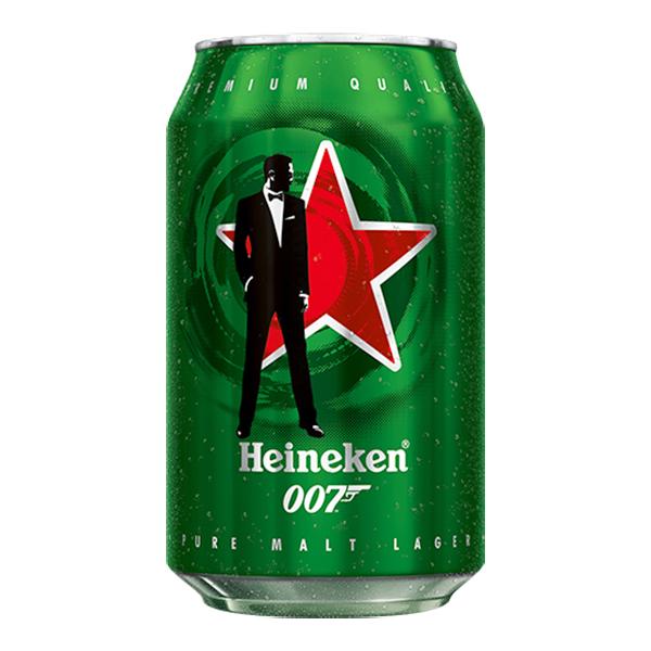 Hình ảnh Thùng 24 Lon Bia Heineken James Bond Bản Giới Hạn Bật Nắp Trúng Vàng 330ml