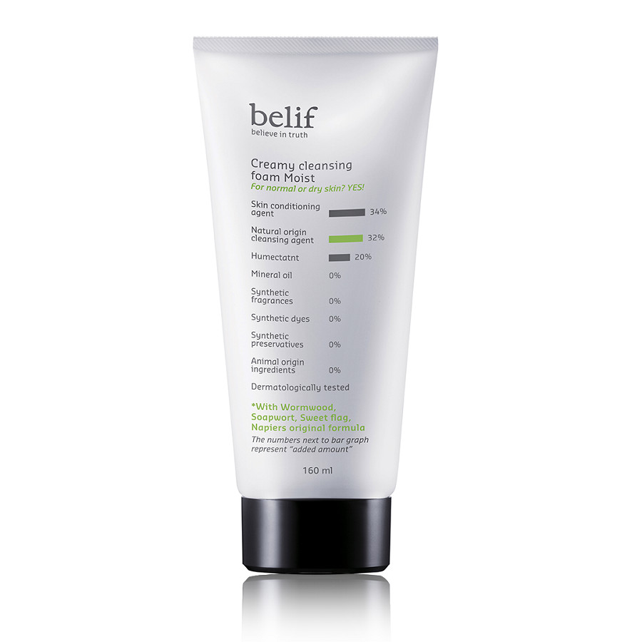 Sữa rửa mặt cô đặc Belif Creamy Cleansing Foam Moist 160ml