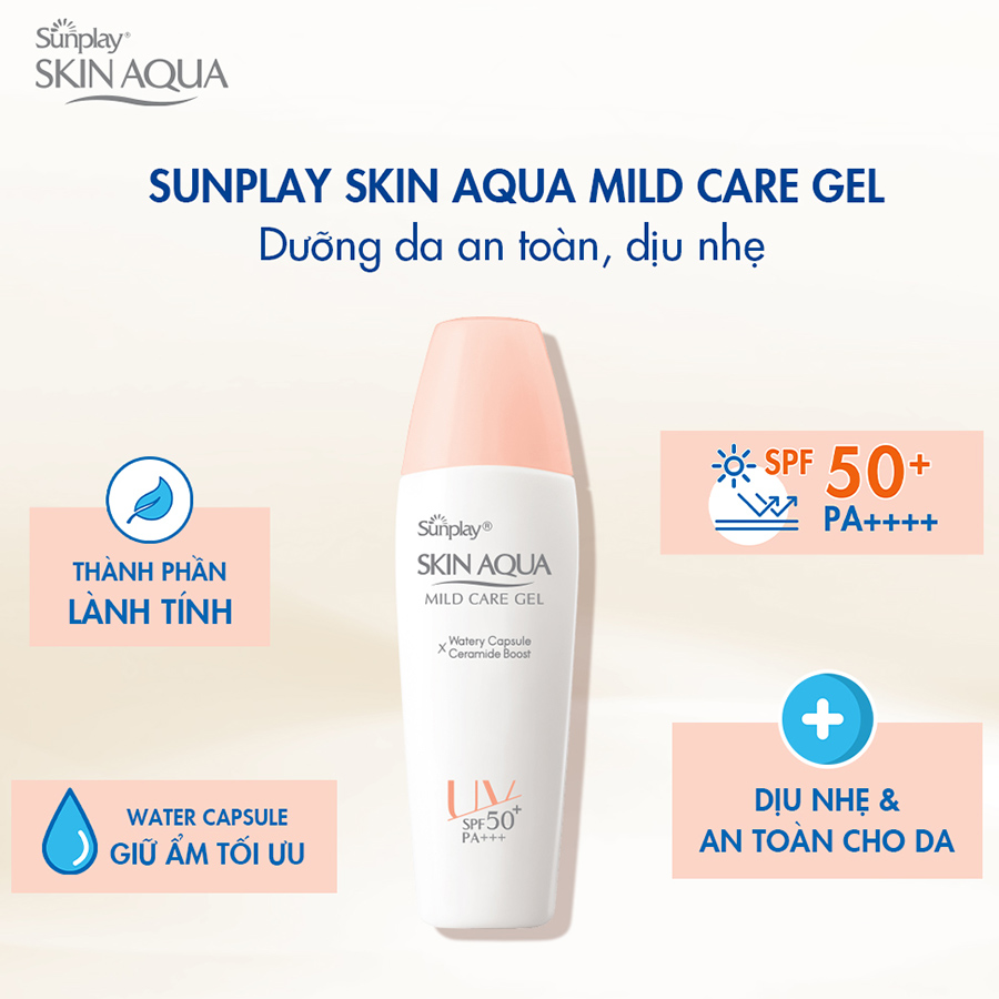 Gel Chống Nắng Cho Da Nhạy Cảm Sunplay Skin Aqua Mild Care Gel SPF50+ PA+++  (25g) | Tiki Trading | Tiki