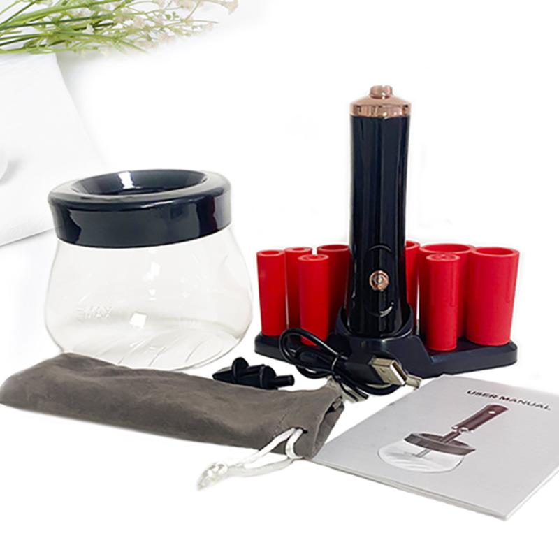 Bộ cọ rửa cọ trang điểm điện USB, tự động sấy khô, máy lắc mực phun xăm, máy rung mực