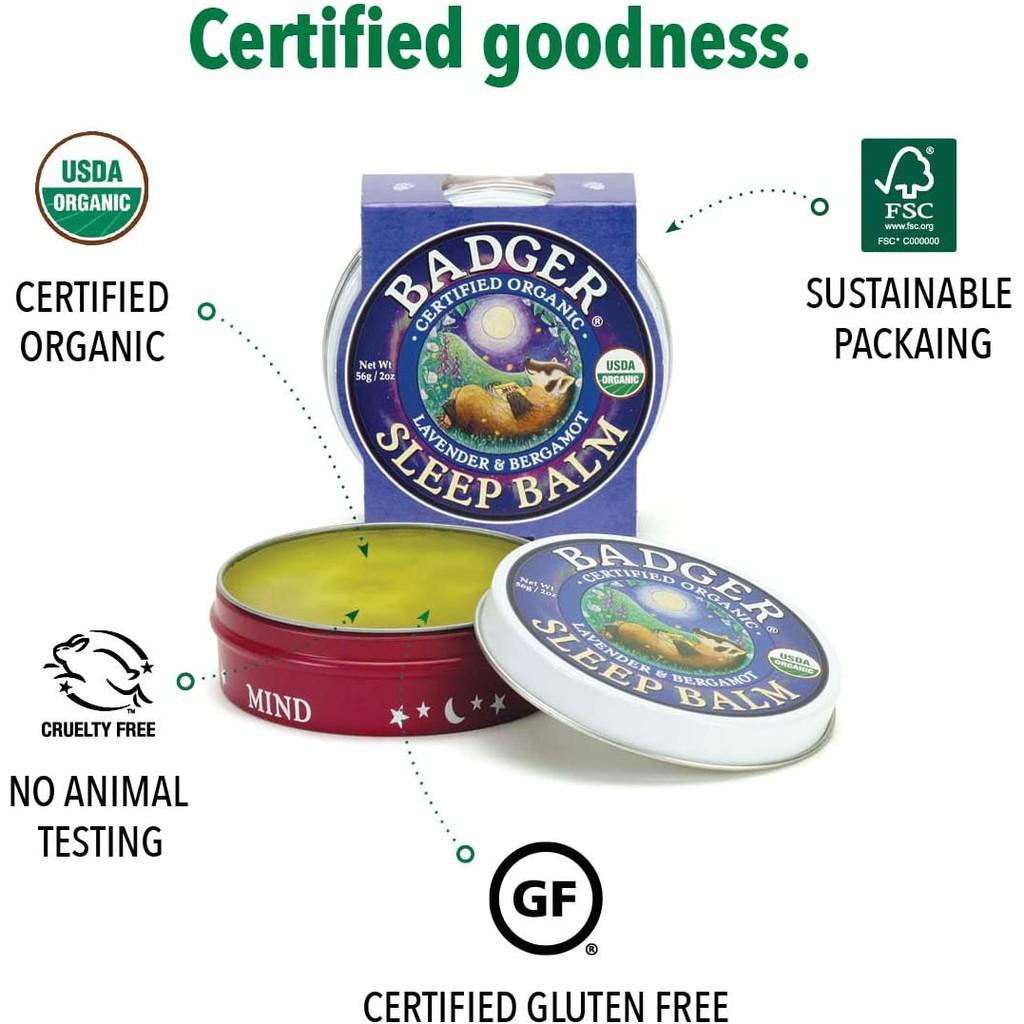 Sáp dầu hữu cơ hỗ trợ giấc ngủ ngon Badger Sleep Balm USDA Organic - 21g