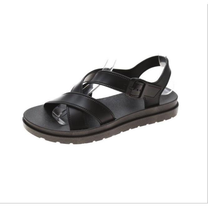Sandal nhựa nữ quai chéo sắc màu