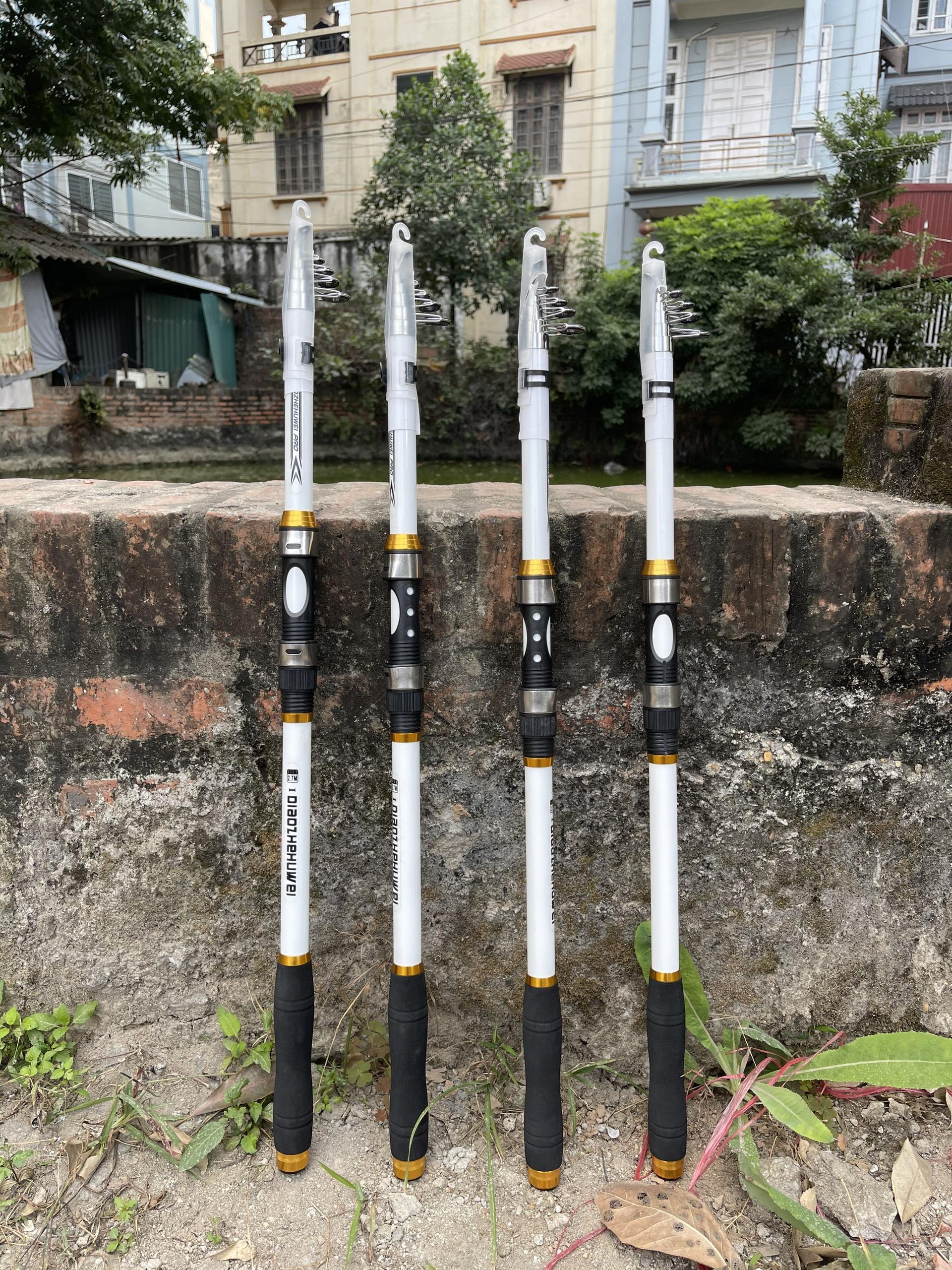 Bộ cần câu cá - Cần carbon cao cấp - Kèm máy Kim loại HE Chính hãng - Tặng kèm nhiều phụ kiện