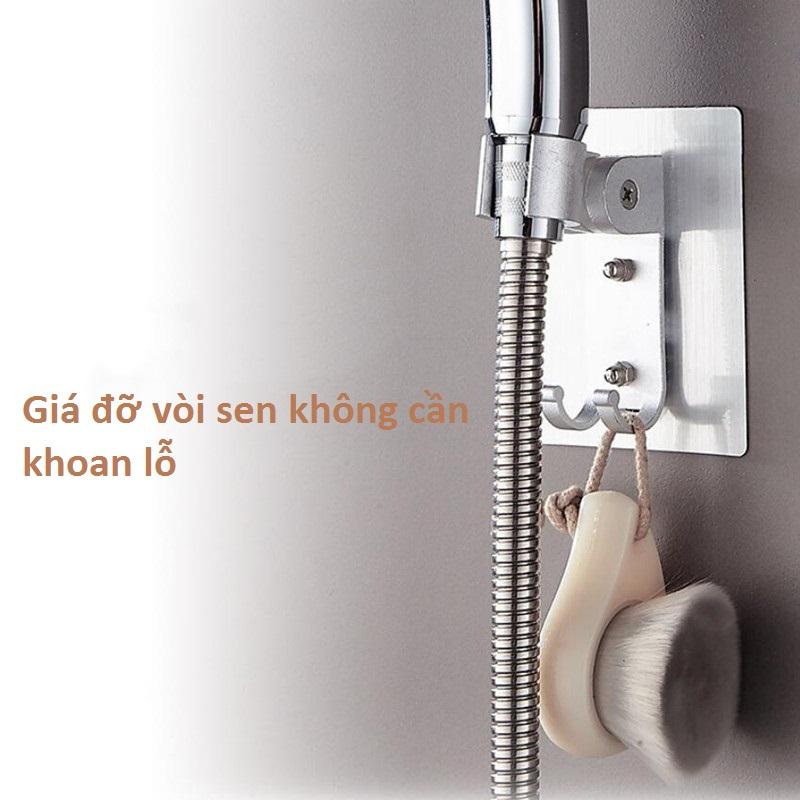 Giá đỡ vòi sen kết hợp móc treo đồ - không cần đục lỗ trên tường