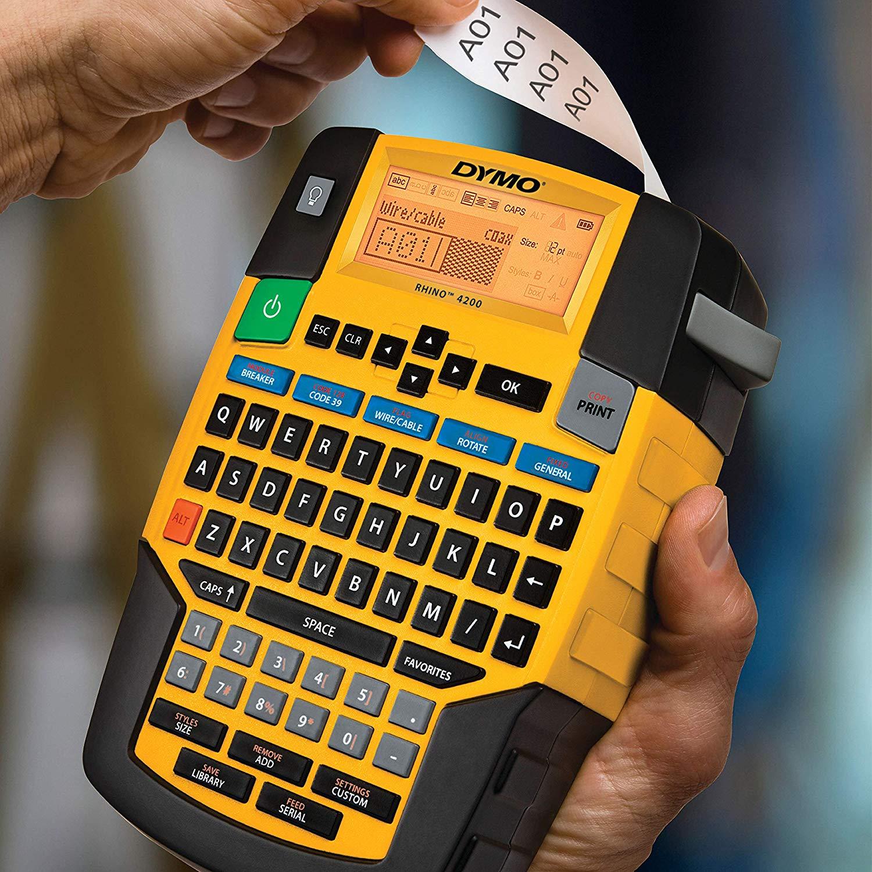 Máy in tem nhãn Dymo  Rhino 4200 bàn phím QWERTY