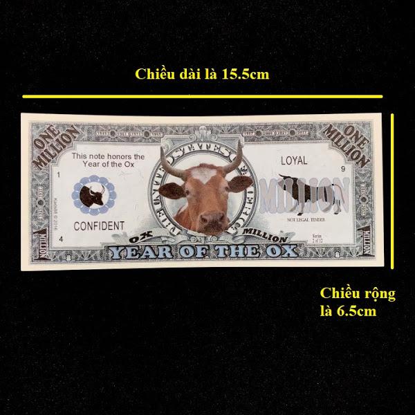 Combo 30 Tiền Lưu Niệm 1 Triệu USD Hình Con Trâu - TMT COLLECTION - SP005143