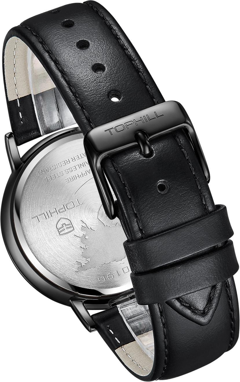 Đồng hồ nam Thụy Sĩ dây da TOPHILL TS019G.PB5152
