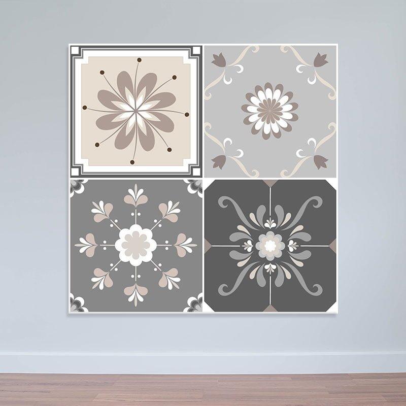 Decal nhám màu nhạt hoa văn cách điệu WD153