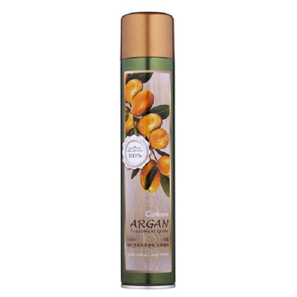 Gôm xịt tóc mềm Argan (Hàn Quốc) Confume argan treatment  spray 300ml