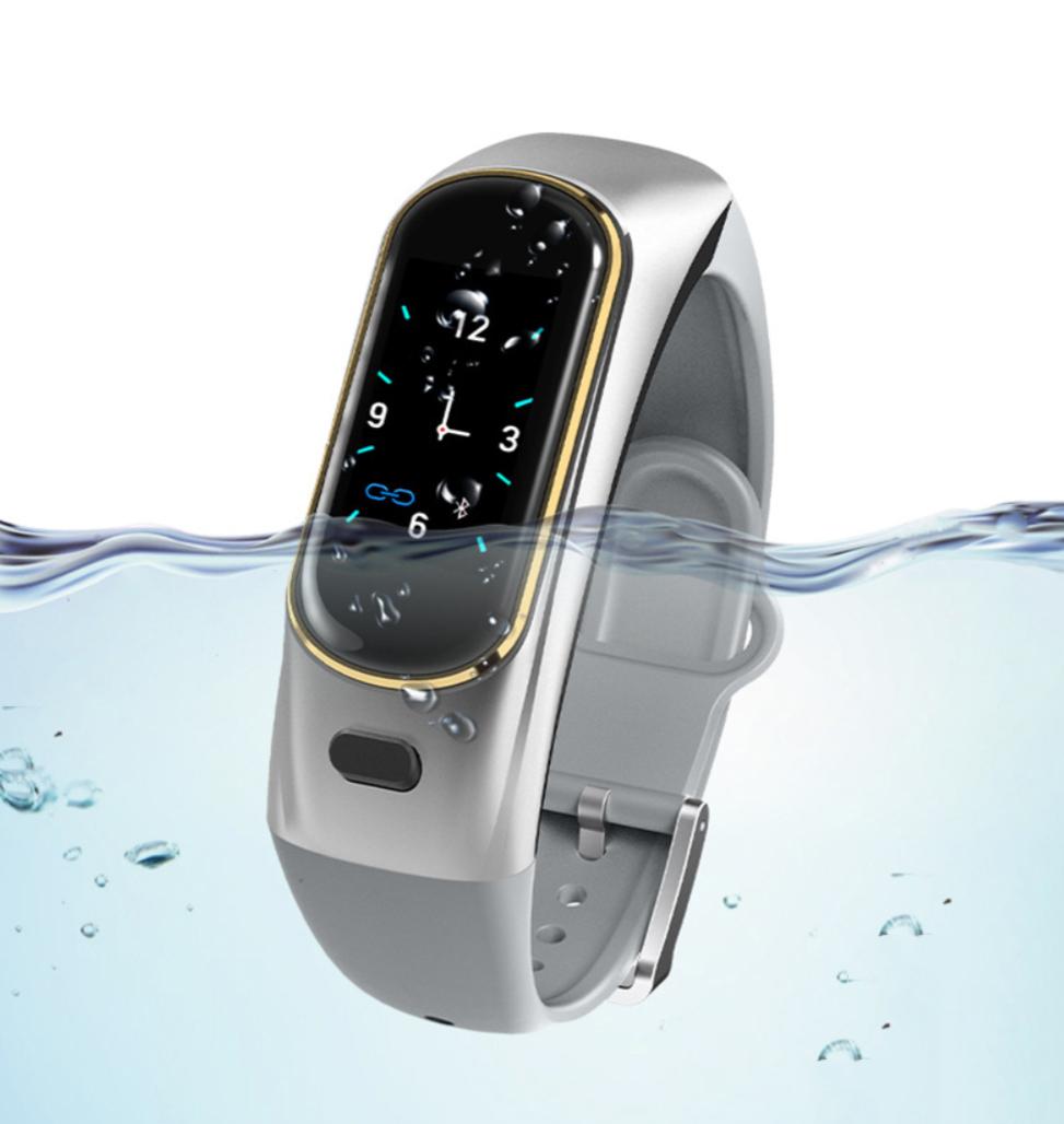 Tai nghe bluetooth kiêm Đồng hồ thông minh 2 trong 1 - Mẫu 109