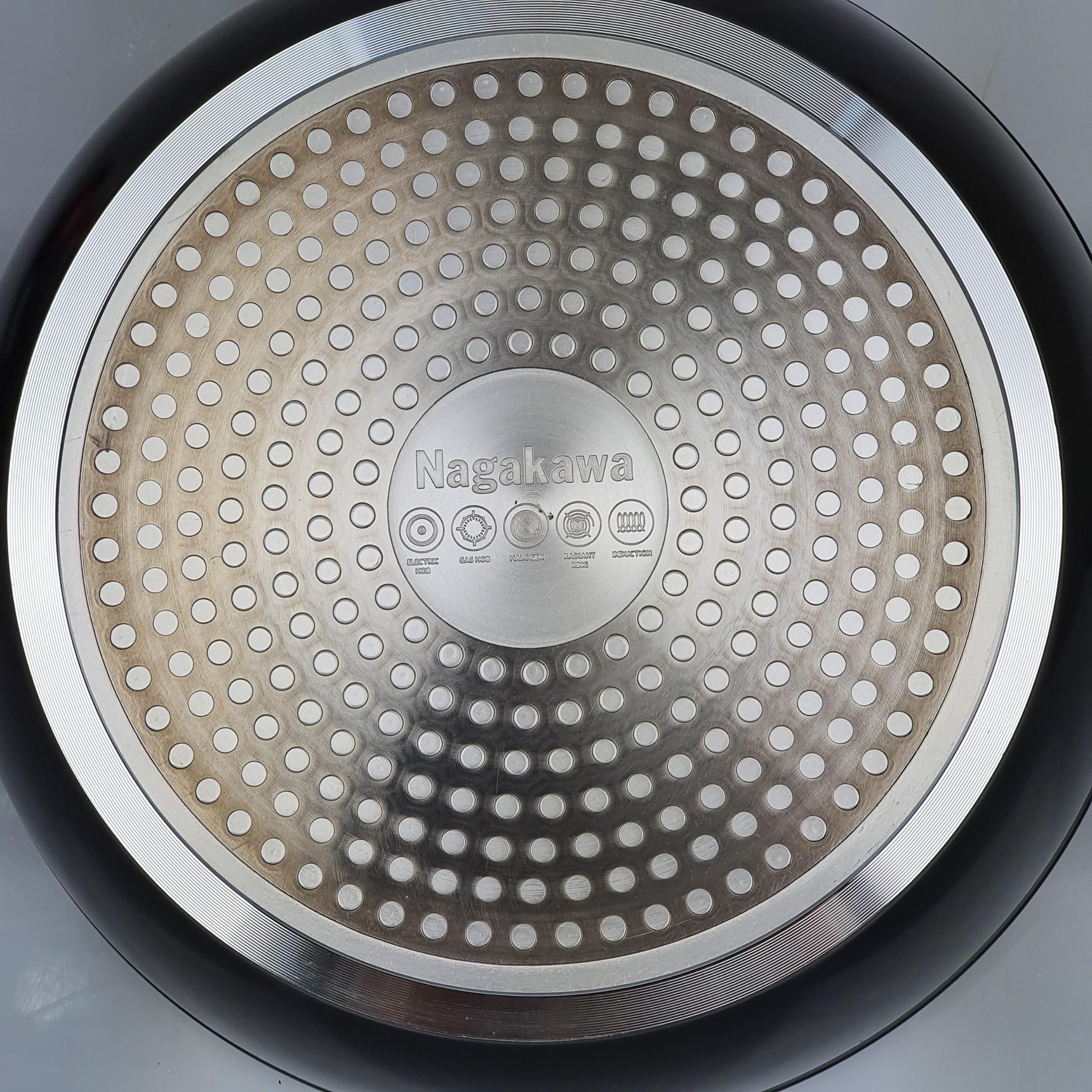 Chảo chống dính kim cương 5 lớp đáy từ Nagakawa size 24/26/28cm-Hàng chính hãng