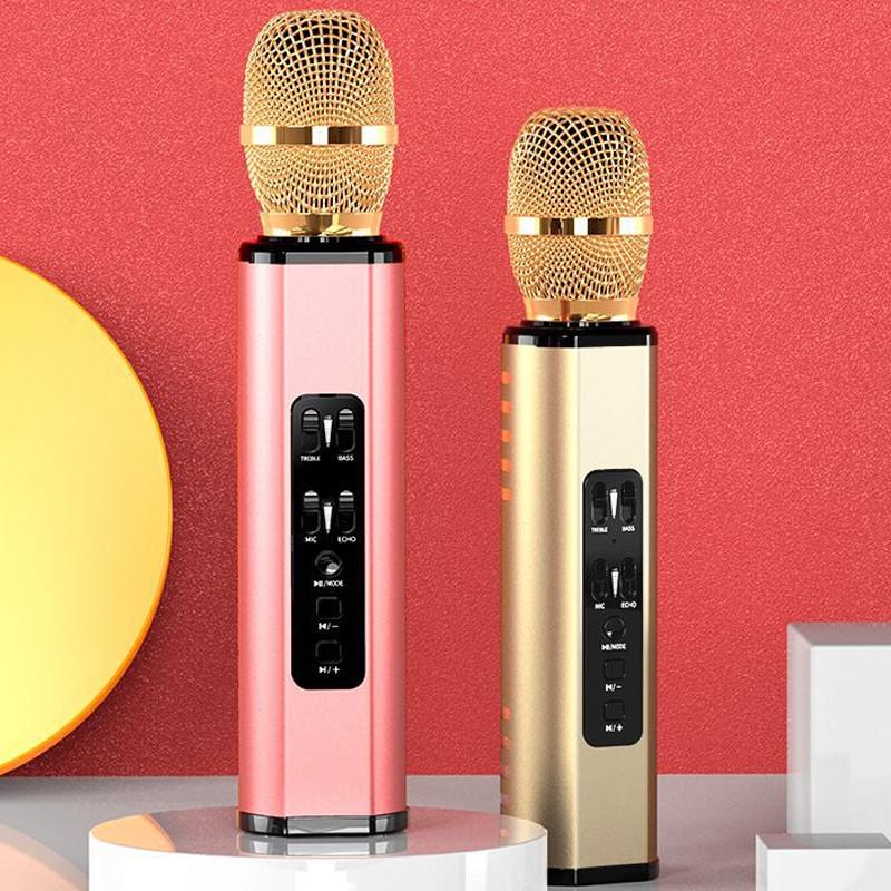 Mic Bluetooth Hát Karaoke Trên Điện Thoại Kết Nối Không Dây - Hàng Chính Hãng PKCB
