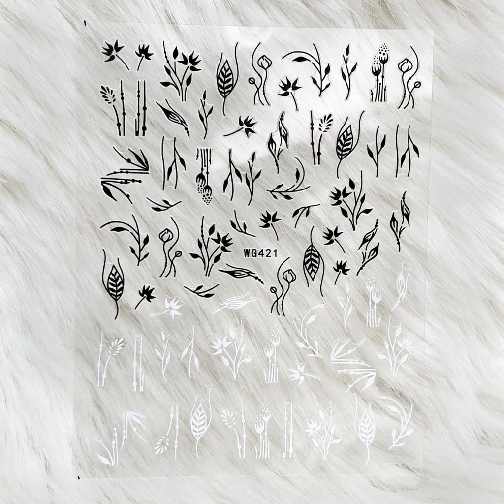 Sticker nails hoa - hình dán móng 3D 421