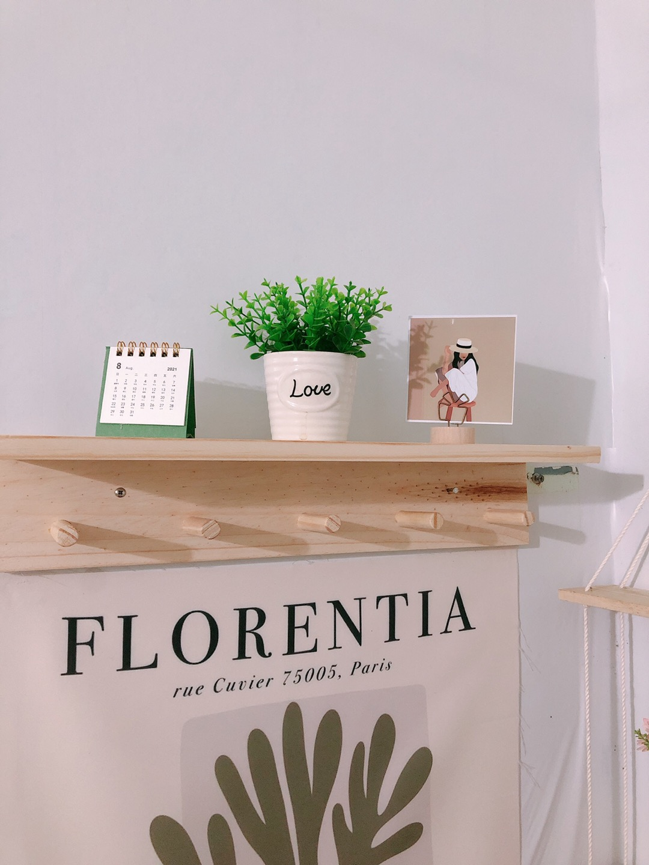Kệ gỗ treo tường, kệ trang trí  Gía gỗ Decor phòng ngủ,móc quần áo, phụ kiện gỗ thông tự nhiên