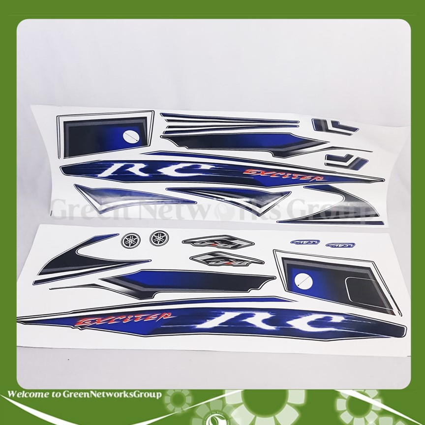 Bộ decal tem dán xe Exciter 135 RC 2010 Green Networks Group
