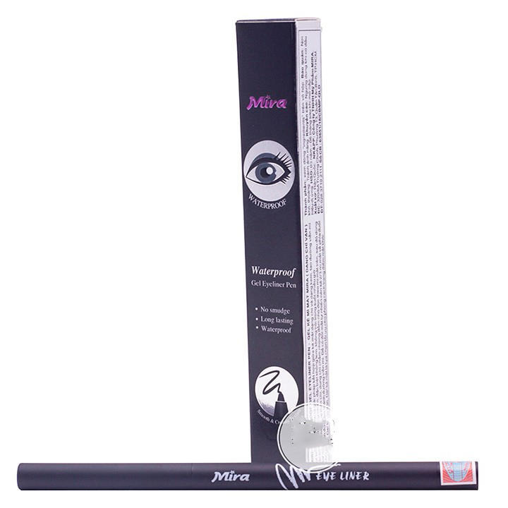 Gel kẻ mí mắt không lem không trôi Mira Eyeliner Pen tặng kèm móc khóa