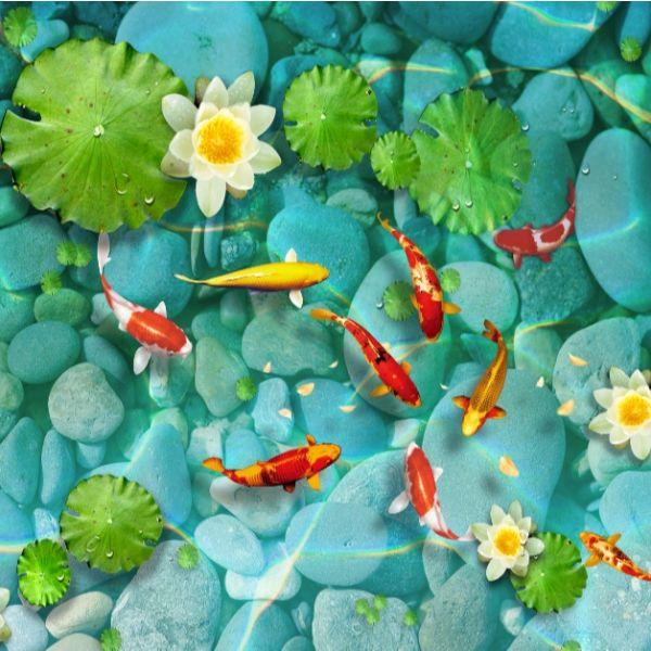 Giấy dán tường - Cá Koi - Mã 23