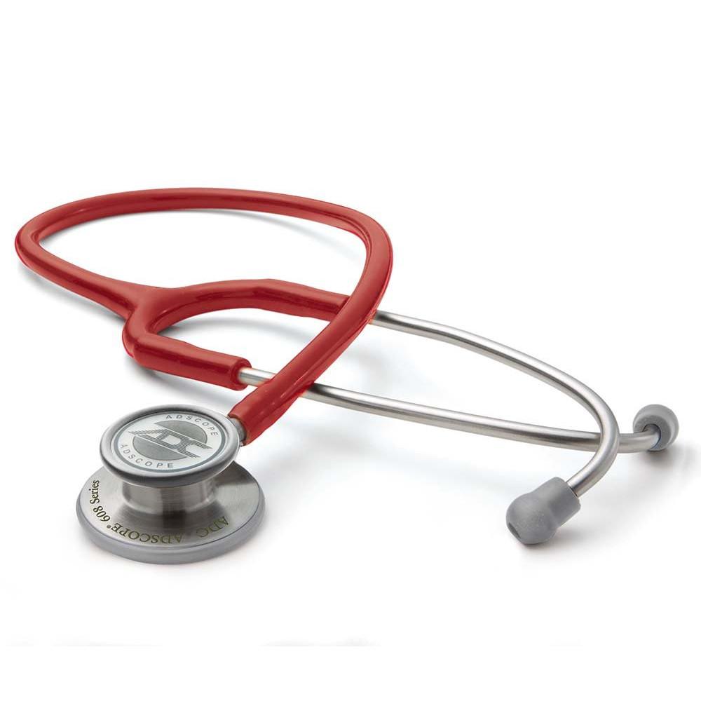 Ống nghe ADC 608 R hai mặt màng phù hợp sử dụng cho cả người lớn và trẻ em, độ nhạy âm thanh cao phù hợp cho khám đa khoa tổng quát