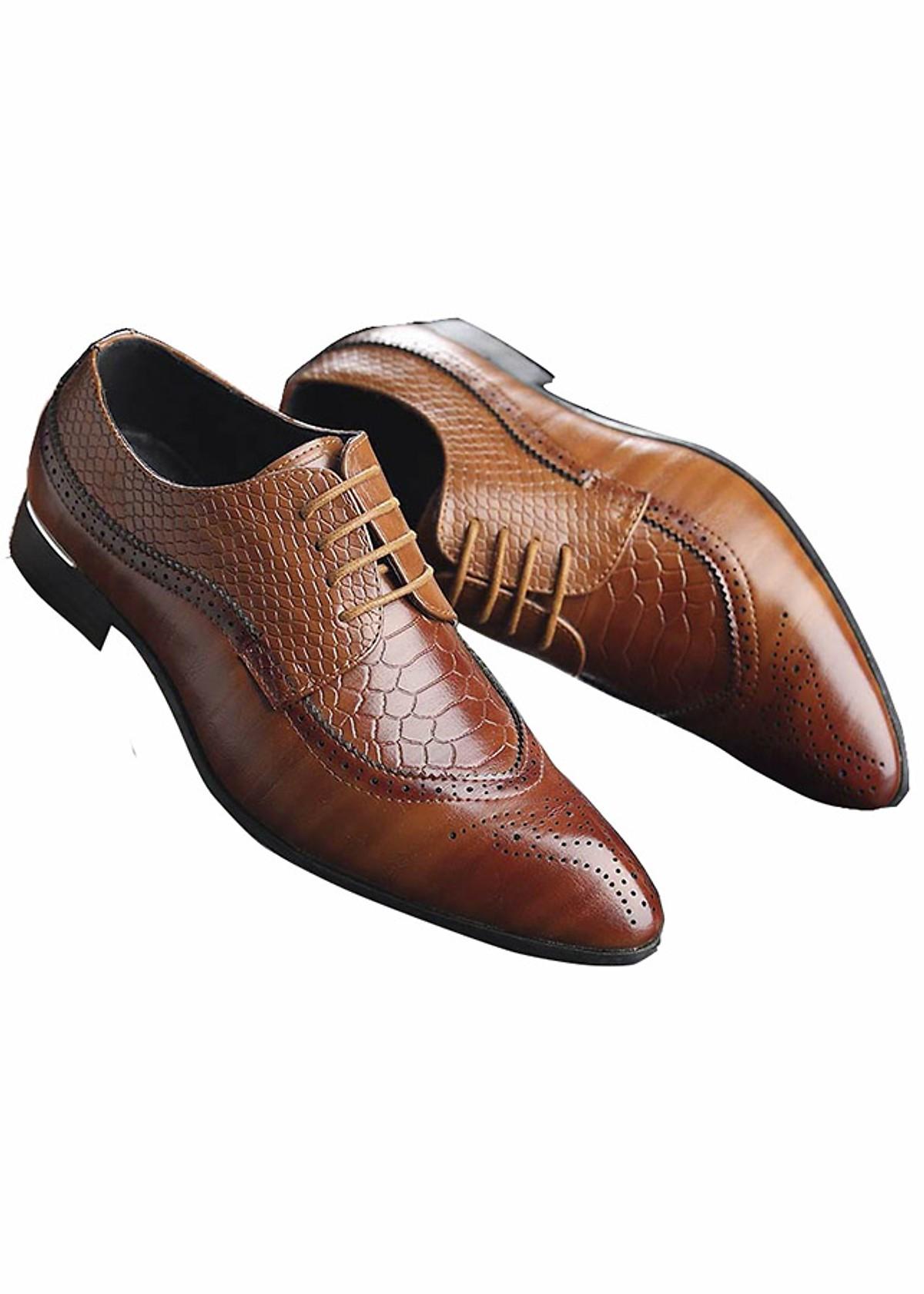 Giày Tây Nam TZN Chất Liệu Da Cao Cấp Lịch lãm Thời Thượng Cao Cấp [ BT33 Màu Nâu ]