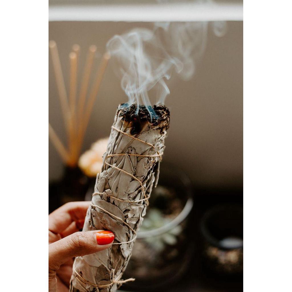"""Bó lá xông nhà Yerba Santa - Thánh thảo dược xông nhà xua đuổi khí độc Yerba Santa ( Yerba Santa Smudge 3""""-4"""")"""