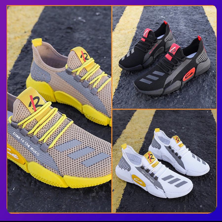 Giày nam,Giày sneaker nam thoáng khí,Giày thể thao nam phong cách trẻ trung 2020,giày nam mẫu mới BG268