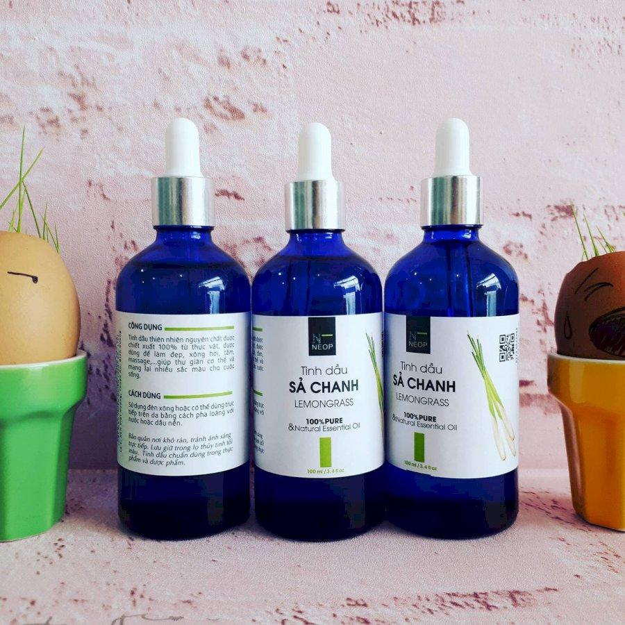 Tinh Dầu Sả Chanh NEOP 100ml Đuổi Muỗi - Lemongrass Essential Oil - 100% Natural