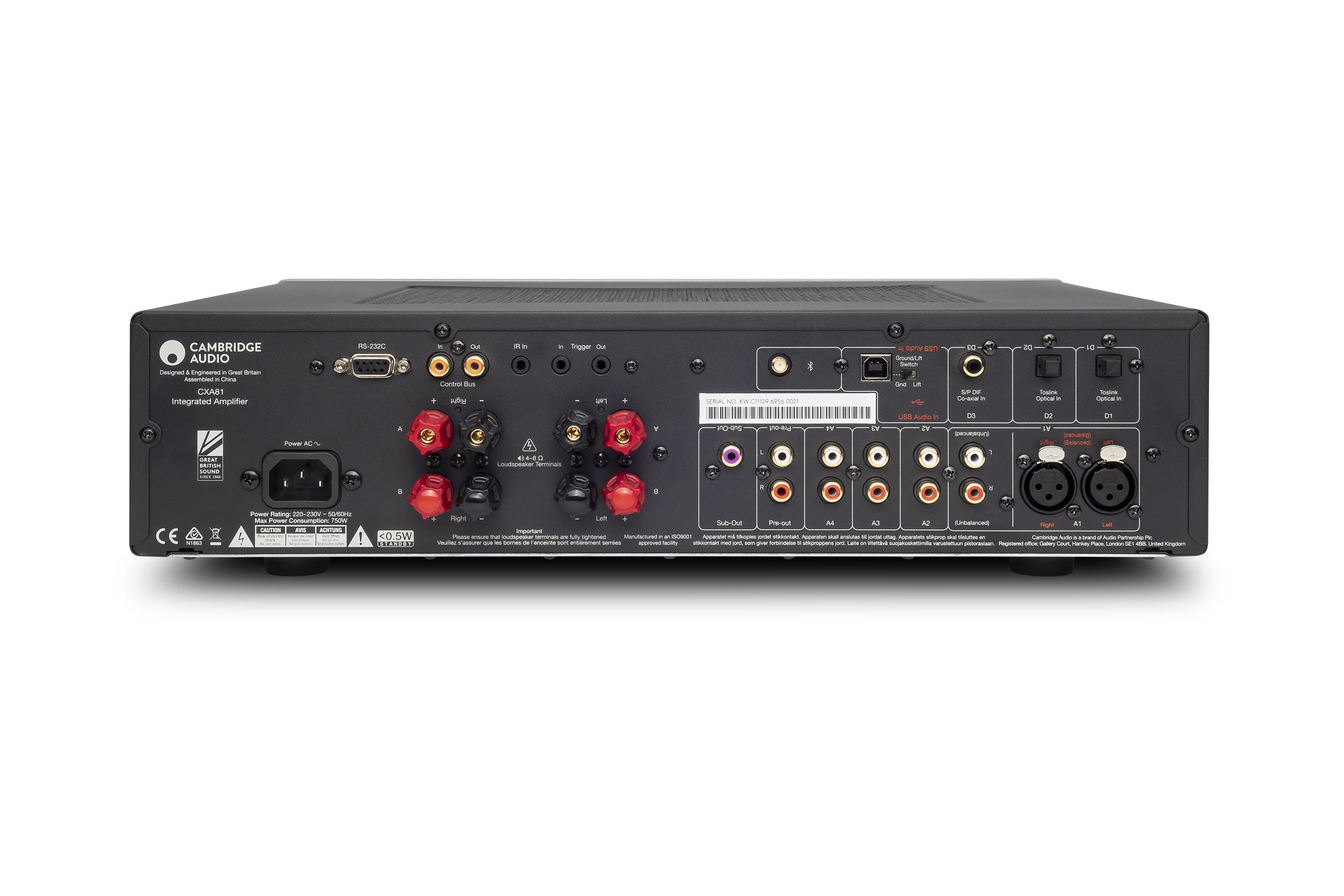 Ampli tích hợp Cambridge Audio CXA81 Lunar Grey -Hàng chính hãng