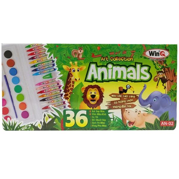 Bút Màu 16 Cây WinQ - Animal AN-02