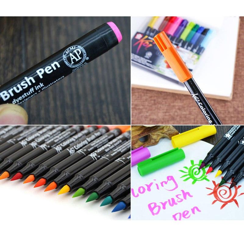 Bộ 48 bút cọ mầu nước Sakura Koi Colouring brush pen