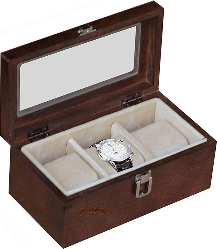 Hộp đựng đồng hồ 3 ngăn Nhatvywood WB301