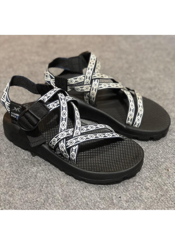 Giày Sandals Nam Quai Kép Vải Dù Kiểu Dáng Hàn Quốc Mã D151