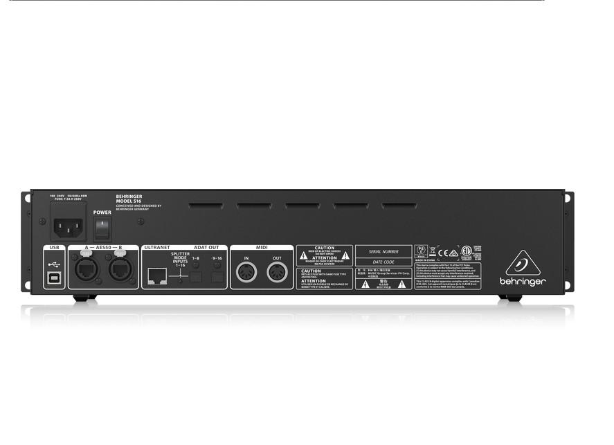 Hộp kết nối 16 đường tín hiệu vào, 8 đường tín hiệu ra BEHRINGER, model: S16 - Hàng Nhập Khẩu