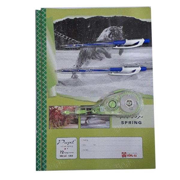 Combo bút xóa + 2 quyển vở + 2 bút bi