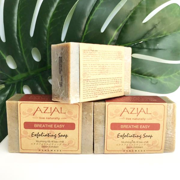 Xà phòng tắm tẩy tế bào chết AZIAL Breathe Easy Exfoliating Soap, 100% thiên nhiên, phù hợp với mọi loại da