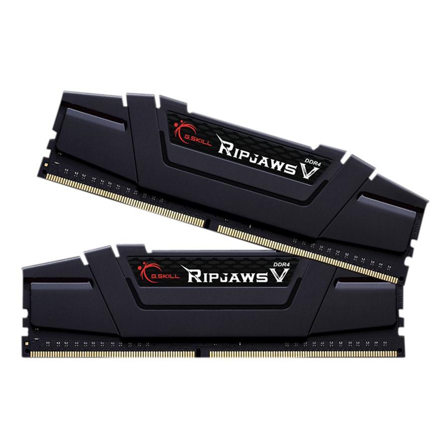 Bộ 2 Thanh RAM PC G.Skill 16GB (8GBx2) Ripjaws Tản Nhiệt DDR4 F4-3200C16D-16GVKB - Hàng Chính Hãng
