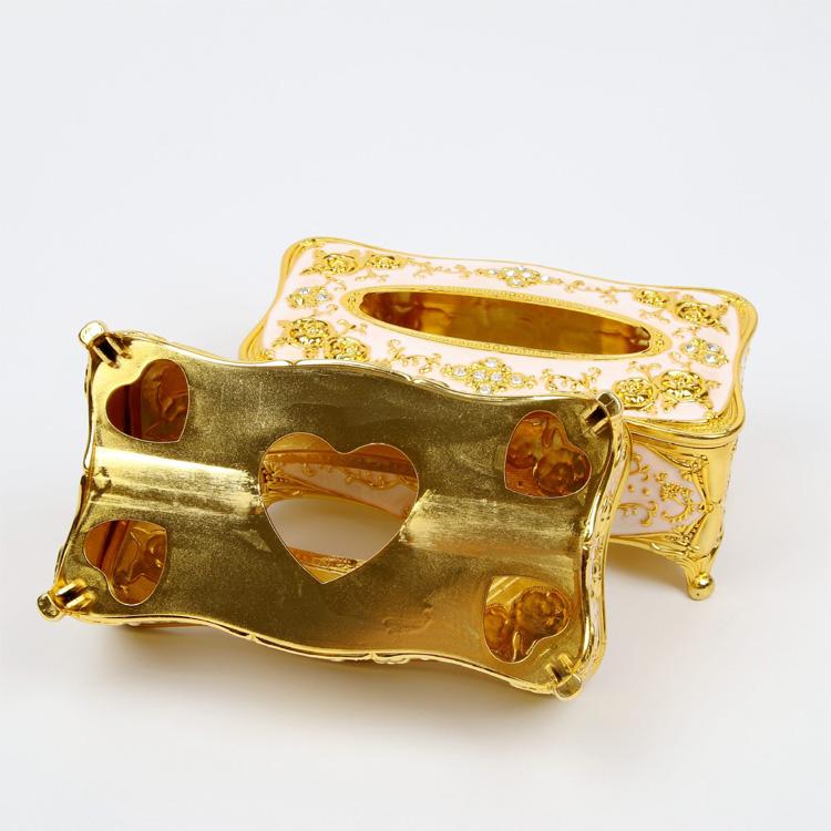 Hộp khăn giấy ăn mạ vàng sang trọng + Tặng 2 túi khử mùi giầy Nhật Pháp