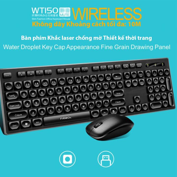Bàn phím và Chuột không dây FRIWOL WT150 - Hàng chính hãng