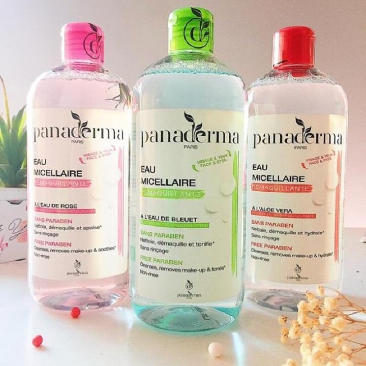 Nước tẩy trang Panaderma 500ml hương việt quất nắp xanh