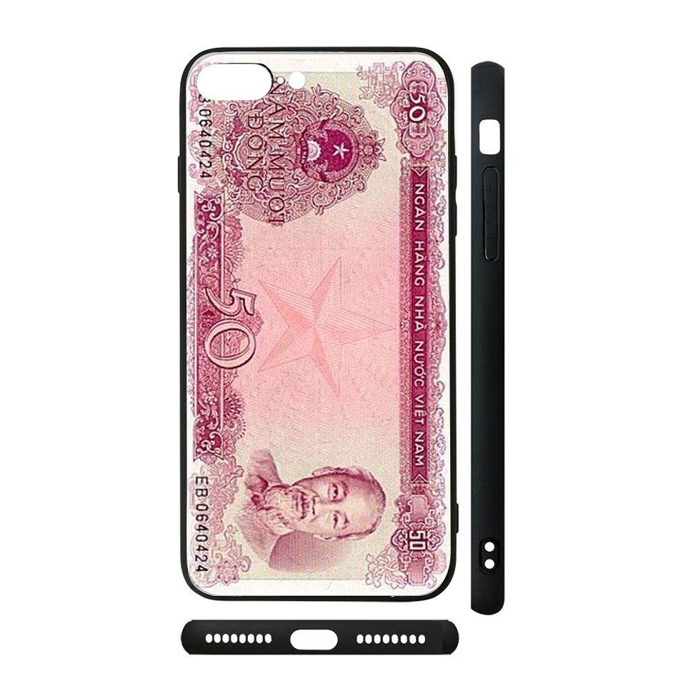 Ốp kính cho iPhone in hình Tiền - 012 có đủ mã máy - iPhone 6 - 6s