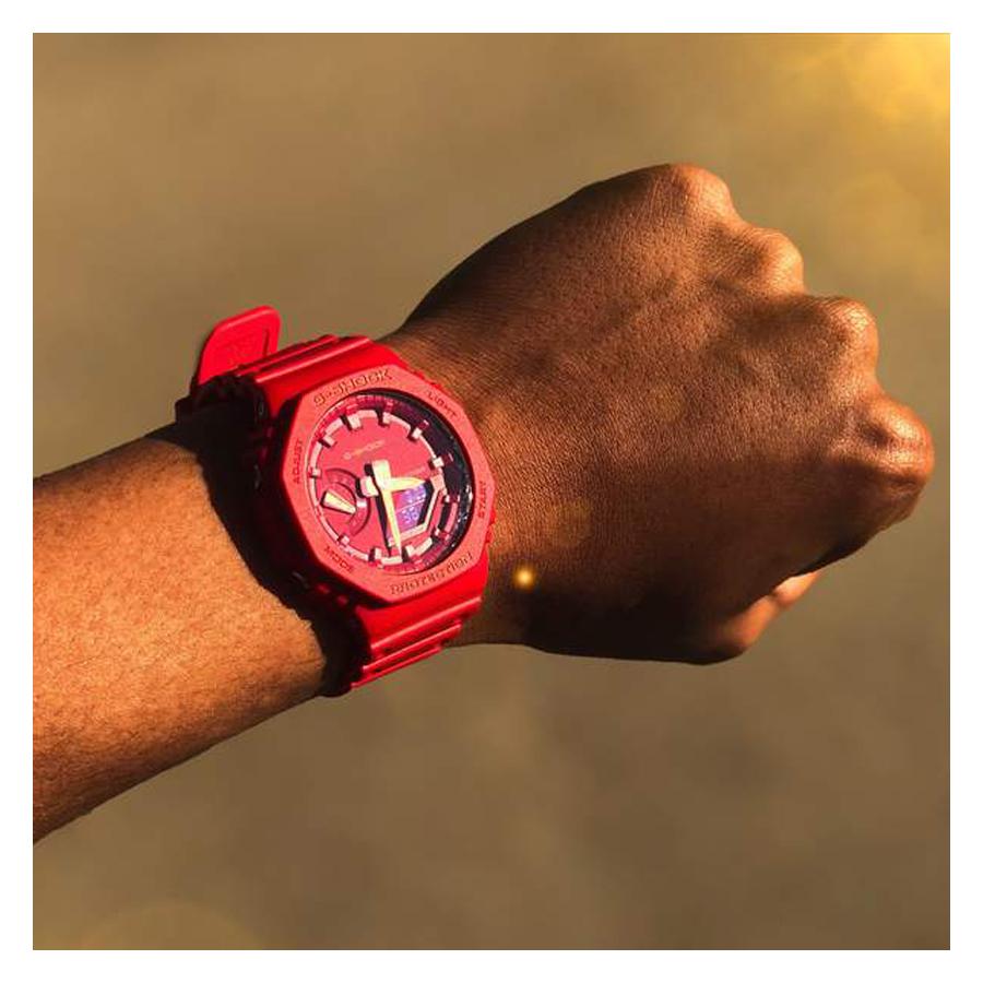Đồng hồ nam dây nhựa Casio G-Shock chính hãng GA-2100-4ADR