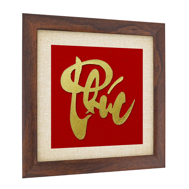 Tranh chữ Phúc thư pháp đúc đồng mạ vàng 24K: Quà tặng cao cấp, độc đáo cho đối tác, ban bè, người thân